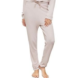NWT TOPSHOP Tie Waist Waffle Knit Joggers in Nude